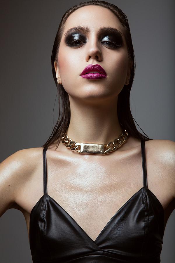 Katerina Karadimas model. Katerina Karadimas demonstrating Face Modeling, in a photoshoot by Vlad Savin with makeup done by Jaynelle Lording.photographer vlad savinmakeup Jaynelle LordingFace Modeling Photo #135110