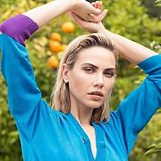 Katia Dede model (Κάτια Δέδε μοντέλο). Photoshoot of model Katia Dede demonstrating Face Modeling.Face Modeling Photo #212528