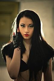 Katrin Gajndr model (модель). Photoshoot of model Katrin Gajndr demonstrating Face Modeling.Face Modeling Photo #111770