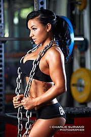 Kayla Rassatti fitness model. Kayla Rassatti demonstrating Commercial Modeling, in a photoshoot by Charlie Suriano.Photographer Charlie SurianoCommercial Modeling Photo #104243