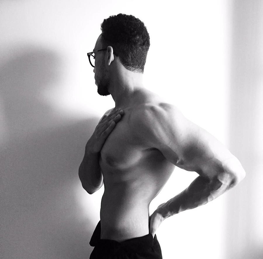 Khalid Barakat model. Photoshoot of model Khalid Barakat demonstrating Body Modeling.Body Modeling Photo #197498