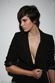 Kitti Kovacs (Kitti Kovács) model. Photoshoot of model Kitti Kovacs demonstrating Face Modeling.Face Modeling Photo #120675