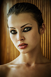 Klaudia Burman model (modell). Photoshoot of model Klaudia Burman demonstrating Face Modeling.Face Modeling Photo #80627