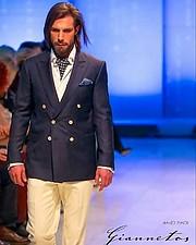Konstantinos Pavlopoulos (Κωνσταντίνος Παυλόπουλος) fashion & comercial model. Photoshoot of model Konstantinos Pavlopoulos demonstrating Runway Modeling.Runway Modeling Photo #216864