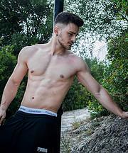 Kostantinos Drosos model (μοντέλο). Photoshoot of model Kostantinos Drosos demonstrating Body Modeling.Body Modeling Photo #213334
