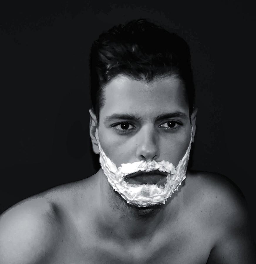 Kostas Marou model (μοντέλο). Photoshoot of model Kostas Marou demonstrating Face Modeling.Face Modeling Photo #203863