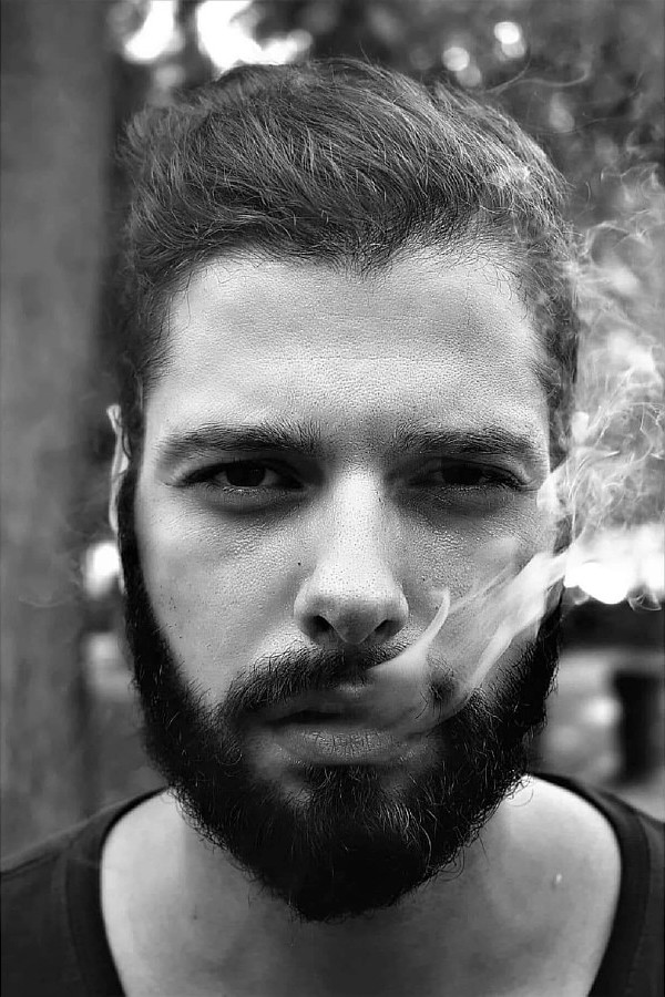 Kostas Marou model (μοντέλο). Photoshoot of model Kostas Marou demonstrating Face Modeling.Face Modeling Photo #203864