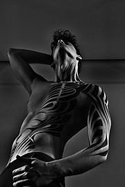 Kostas Vidras model (Κώστας Βίδρας μοντέλο). Modeling work by model Kostas Vidras.Photos by Brezas StavrosBody makeup work - Brezas Stavros Photo #136378