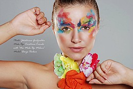 Kristiina Karula makeup artist (jumestuskunstnik). Work by makeup artist Kristiina Karula demonstrating Creative Makeup.Creative Makeup Photo #66802