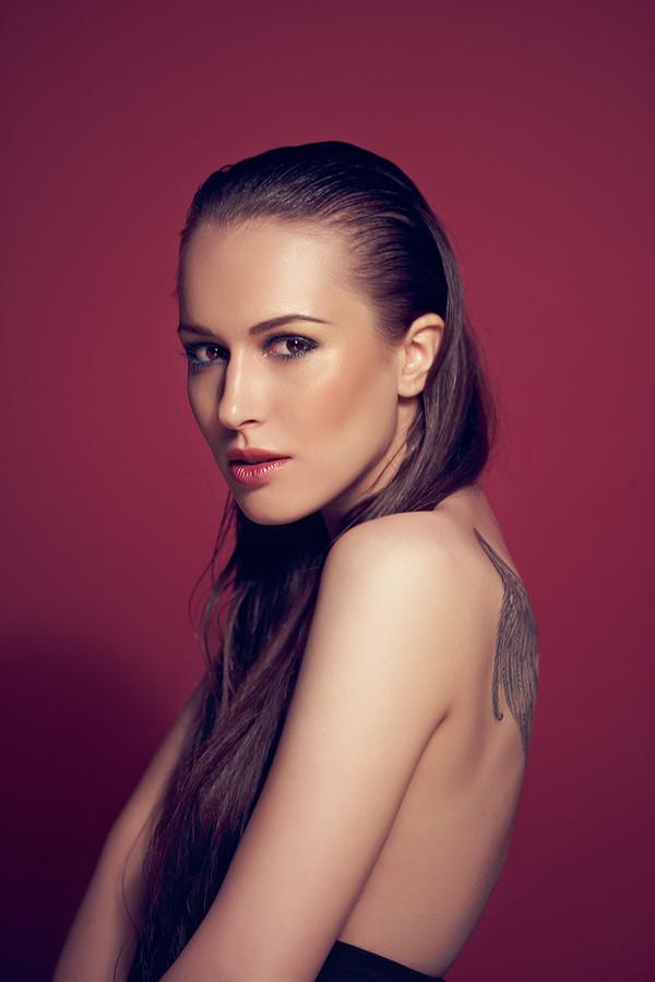 Ksenia Korneychuk model & fashion designer (Ксения Корнейчук модель & модельер). Photoshoot of model Ksenia Korneychuk demonstrating Face Modeling.Face Modeling Photo #104194