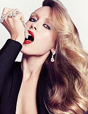Ksenia Sukhinova model (Ксения Сухинова модель). Photoshoot of model Ksenia Sukhinova demonstrating Face Modeling.Earrings,RingFace Modeling Photo #94878
