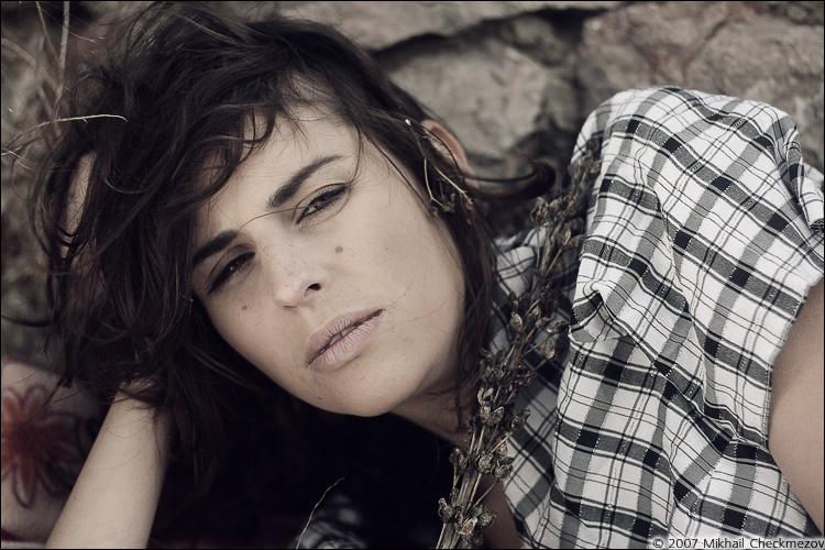 Kseniia Rebenko model (Ксения Ребенко modèle). Photoshoot of model Kseniia Rebenko demonstrating Face Modeling.Face Modeling Photo #74195
