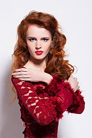 Lana Melaschich model (модель). Photoshoot of model Lana Melaschich demonstrating Face Modeling.Face Modeling Photo #156373