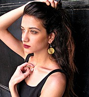 Lara Riad model. Photoshoot of model Lara Riad demonstrating Face Modeling.EarringsFace Modeling Photo #157461
