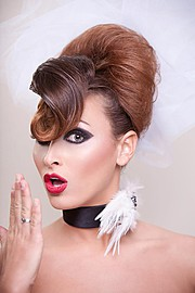 Laura Kopel fitness model. Photoshoot of model Laura Kopel demonstrating Face Modeling.Face Modeling Photo #103202