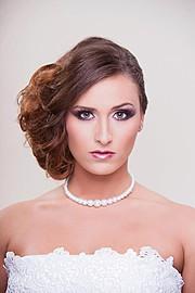 Laura Kopel fitness model. Photoshoot of model Laura Kopel demonstrating Face Modeling.Face Modeling Photo #103217