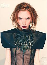 Lauren Rebecca Roth model. Photoshoot of model Lauren Rebecca Roth demonstrating Face Modeling.Designer: Courtney LaineFace Modeling Photo #114419