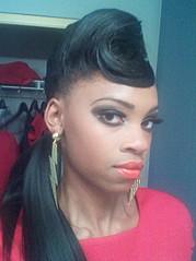 Laveena Dawson model. Photoshoot of model Laveena Dawson demonstrating Face Modeling.Face Modeling Photo #96558