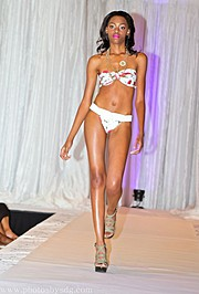 Laveena Dawson model. Photoshoot of model Laveena Dawson demonstrating Runway Modeling.Palace of Passion swimwear showNecklaceRunway Modeling Photo #96563