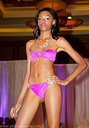 Laveena Dawson model. Photoshoot of model Laveena Dawson demonstrating Runway Modeling.Palace of Passion swimwear showNecklaceRunway Modeling Photo #96565