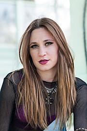 Lavinia Villoresi model (modella). Photoshoot of model Lavinia Villoresi demonstrating Face Modeling.Face Modeling Photo #134920
