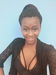 Lebogang Ledimo model. Photoshoot of model Lebogang Ledimo demonstrating Face Modeling.Face Modeling Photo #214092