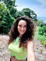 Lena Hitova model. Photoshoot of model Lena Hitova demonstrating Face Modeling.Face Modeling Photo #223675