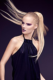 Camilla Jonsson (Camilla Jönsson) hair stylist, Leonard Gren photographer. Work by photographer Leonard Gren demonstrating Portrait Photography.Leonard GrenPonytailPortrait Photography,Fashion Hair Styling Photo #56232
