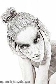 Lia Apostolopoulou hair stylist & makeup artist (Λία Αποστολοπούλου κομμωτής & μακιγιέρ). Modeling work by model Jéssica Loren.Photography: Nico Markompotsaris Bodypainting/Hair Styling: Lia Apostolopoulou- Haistylist/Make up ArtistModel: Jéssica L