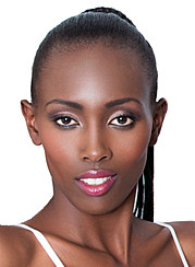 Lilian Kosgei model. Photoshoot of model Lilian Kosgei demonstrating Face Modeling.Lilian KosgeiPhoto: Thompson NcubeMake up: Ruth KinuthiaMiss Commonwealth Kenya 2014 Finalist.Miss Nature 2013/14, Trans Nzoia County, KenyaFace Modeling Photo #1095