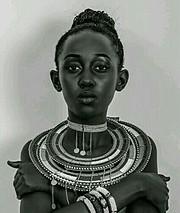 Lilian Mmbando model. Photoshoot of model Lilian Mmbando demonstrating Face Modeling.Face Modeling Photo #186743