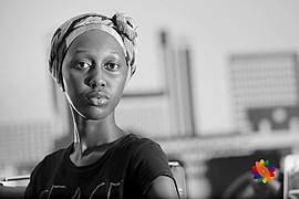 Lilian Mmbando model. Photoshoot of model Lilian Mmbando demonstrating Face Modeling.Face Modeling Photo #186747
