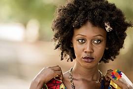 Lilian Mmbando model. Photoshoot of model Lilian Mmbando demonstrating Face Modeling.Face Modeling Photo #186746