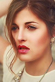Lina Roth model (modell). Photoshoot of model Lina Roth demonstrating Face Modeling.Face Modeling Photo #91604