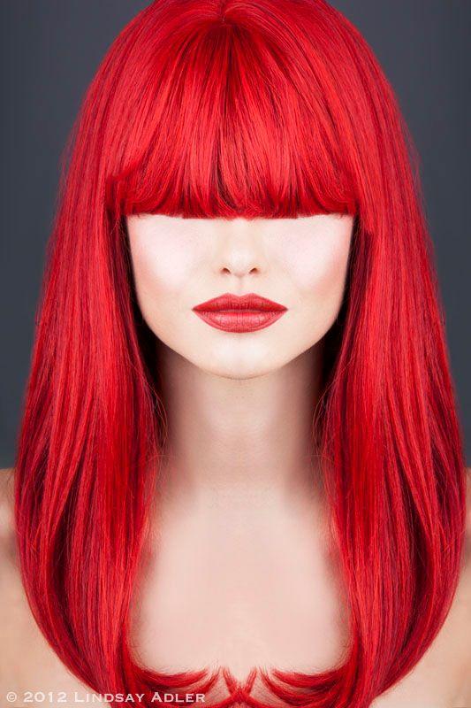Lindsay Adler fashion photographer. Work by photographer Lindsay Adler demonstrating Portrait Photography.Red Hair,Hime CutPortrait Photography,Beauty Makeup Photo #54175