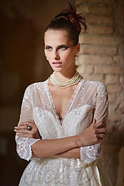 Lora Dimoglou fashion designer (σχεδιαστής μόδας). design by fashion designer Lora Dimoglou.Wedding Gown Design Photo #112929