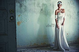 Lora Dimoglou fashion designer (σχεδιαστής μόδας). design by fashion designer Lora Dimoglou.Wedding Gown Design Photo #112931