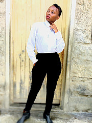 Lucy Maina model. Photoshoot of model Lucy Maina demonstrating Commercial Modeling.Everlyne Maina:Hair stylistMake up artist Outfit stylistCommercial Modeling Photo #223777