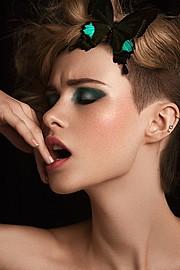 Madeline O'Sullivan model. Photoshoot of model Madeline O Sullivan demonstrating Face Modeling.Face Modeling Photo #95478