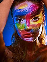 Mallory Mcgowan makeup artist. Work by makeup artist Mallory Mcgowan demonstrating Creative Makeup.Face PaintingCreative Makeup Photo #57546