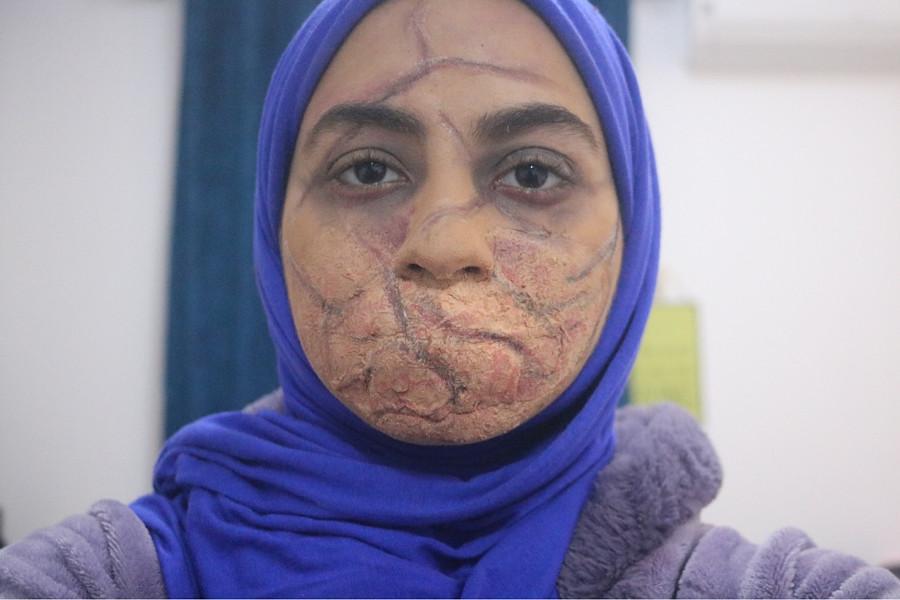 Manar Mohamed special effects makeup artist. Work by makeup artist Manar Mahmoud demonstrating Creative Makeup.Horror Film SFXCreative Makeup Photo #204883