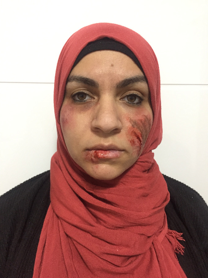 Manar Mohamed special effects makeup artist. Work by makeup artist Manar Mahmoud demonstrating Special Fx Makeup.Horror Film SFXSpecial Fx Makeup Photo #205358