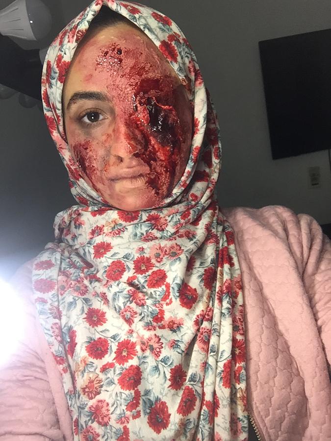 Manar Mohamed special effects makeup artist. Work by makeup artist Manar Mohamed demonstrating Special Fx Makeup.Horror Film SFXSpecial Fx Makeup Photo #203985