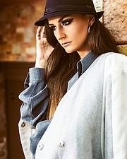 Mantha Papaioannou model (μοντέλο). Photoshoot of model Mantha Papaioannou demonstrating Face Modeling.Face Modeling Photo #187521