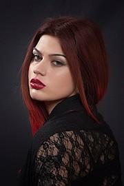 Margarita Fotiadou model (μοντέλο). Photoshoot of model Margarita Fotiadou demonstrating Face Modeling.Face Modeling Photo #183514