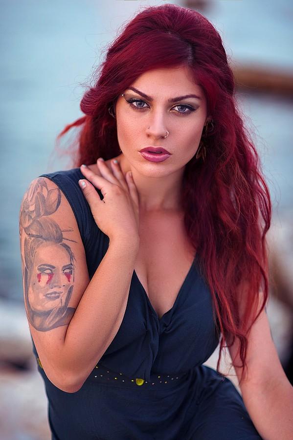 Margarita Fotiadou model (μοντέλο). Photoshoot of model Margarita Fotiadou demonstrating Face Modeling.Face Modeling Photo #183515