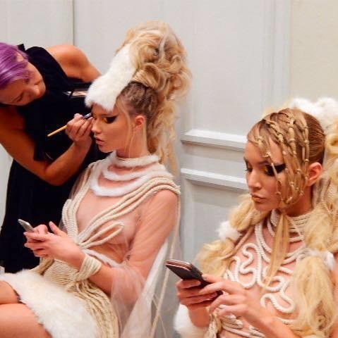 Maria Dretaki hair stylist (Μαρία Δρετάκη κομμωτής). Work by hair stylist Maria Dretaki demonstrating Creative Hair Styling.Maria Dretaki hair stylist ,image maker ,make up artistCreative Hair Styling Photo #186999