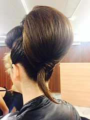 Maria Dretaki hair stylist (Μαρία Δρετάκη κομμωτής). Work by hair stylist Maria Dretaki demonstrating Fashion Hair Styling.Fashion Hair Styling Photo #187060