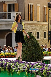 Maria Elena Monego model (modella). Photoshoot of model Maria Elena Monego demonstrating Runway Modeling.Runway Modeling Photo #135217