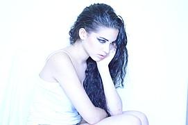 Maria Georgada model (μοντέλο). Photoshoot of model Maria Georgada demonstrating Face Modeling.Face Modeling Photo #166101